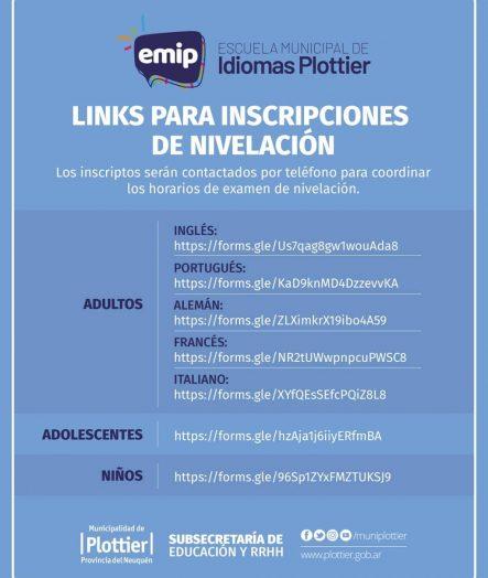 EMIP. INSCRIPCIONES EXÁMEN DE NIVELACIÓN