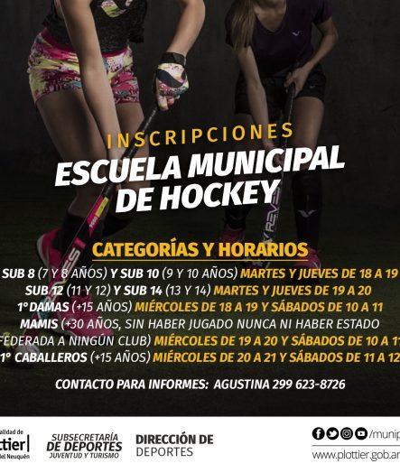 INSCRIPCIONES ABIERTAS ESCUELA MUNICIPAL DE HOCKEY